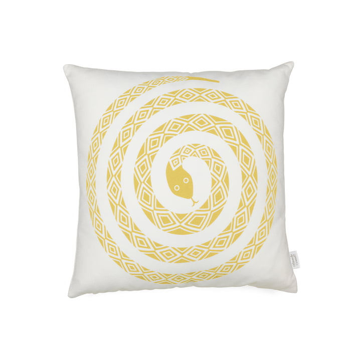 Vitra - Graphic Print Pillow - Snake 40 x 40 cm, mustard