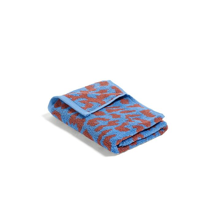 Hay - He She It Towel in sky blue and cinnamon