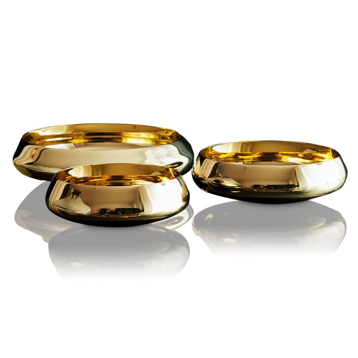Skultuna - Ballerina Bowl brass polished, Trio different sizes