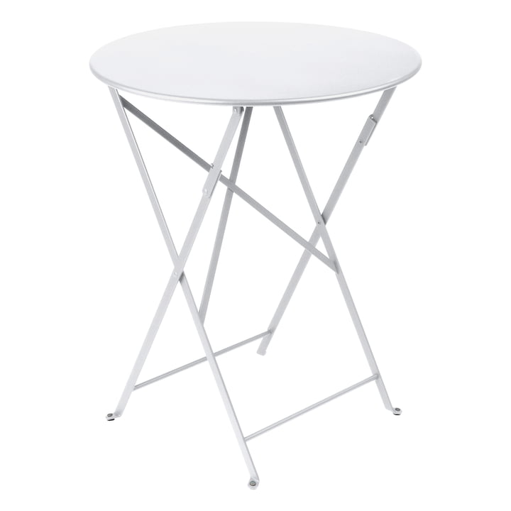 Bistro Folding Table Ø 60 cm by Fermob in Cotton White