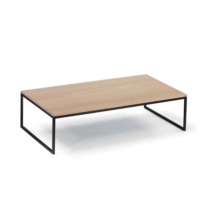 Hans Hansen - Less H 5/2 VA Less H 5/2 Coffee Table Sled-Base, black / oak massive