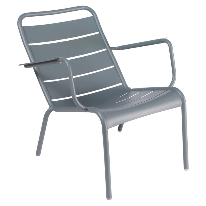 Luxembourg deep armchair from Fermob in thunder grey