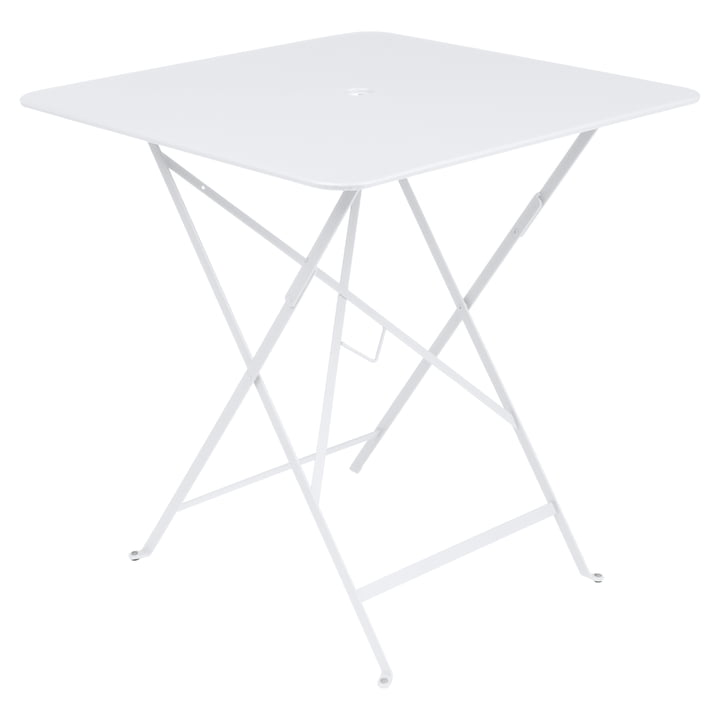 Bistro Folding Table 71 x 71 cm by Fermob in Cotton White