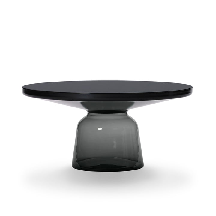 ClassiCon - Bell coffee table, black burnished steel / quartz grey