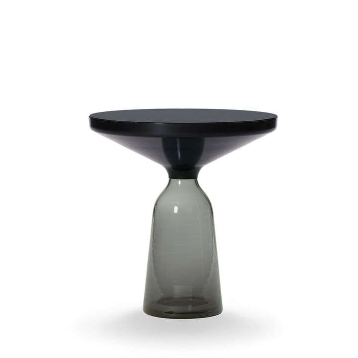ClassiCon - Bell side table, black burnished steel / quartz grey