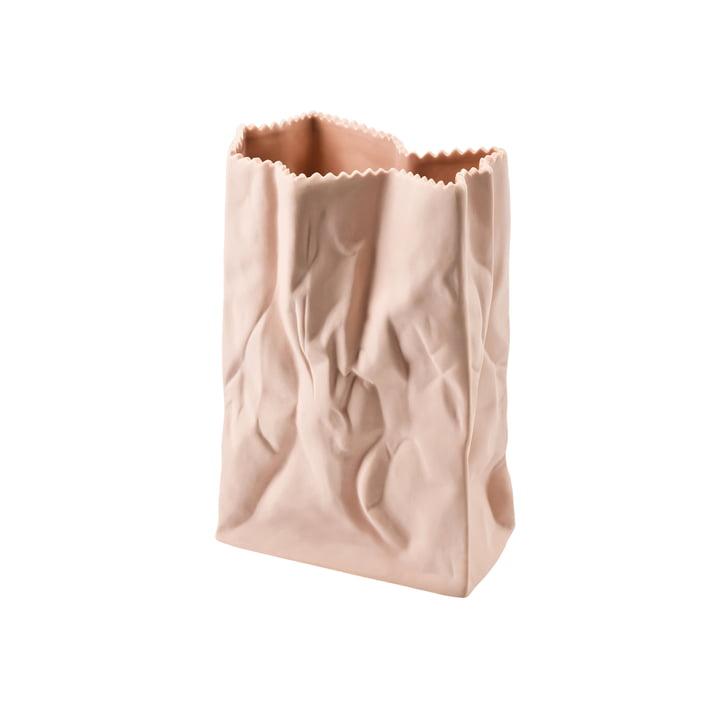 Rosenthal - Paper bag vase, 18 cm, peach