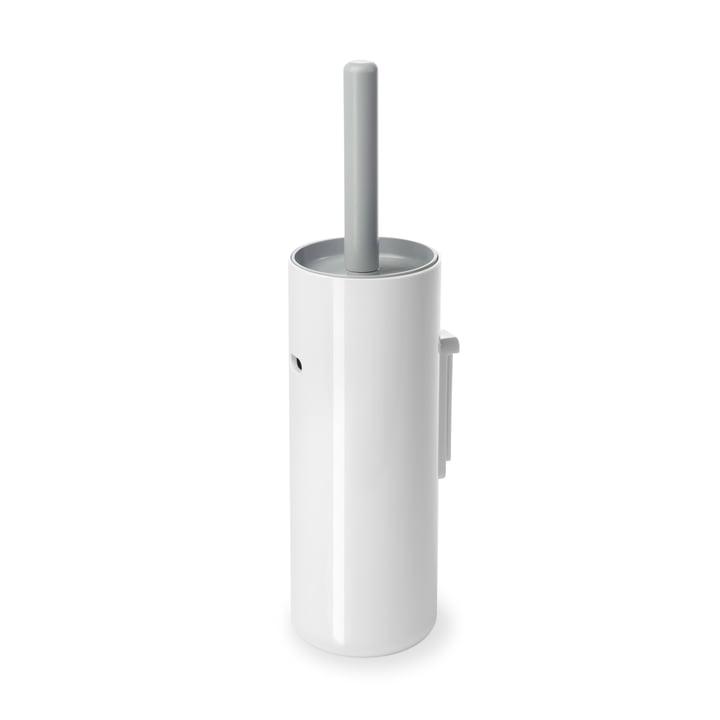Authentics - Lunar wall-mounted toilet brush, white / light grey