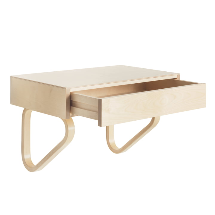 Artek - 114B Wall Drawer, natural birch / natural lacquered