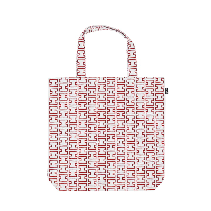 Artek - Tote Bag H55, white / red