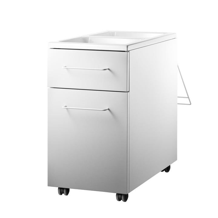 String - Works Drawer Cabinet on wheels, white