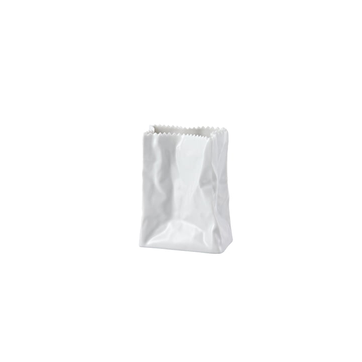 Rosenthal White Glazed Paper Bag Vase