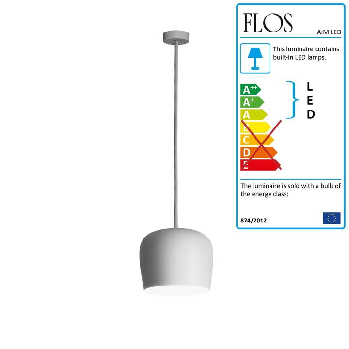 Flos - AIM Small LED Pedant Lamp Fix, white