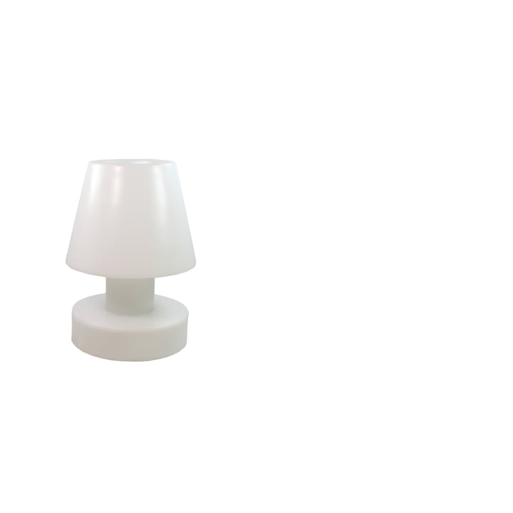 Bloom! Portable Lamp LED - 28 cm, rechargeable battery, white
