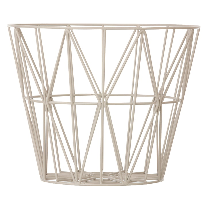 ferm Living - Wire Basket large, grey