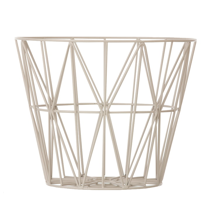 ferm Living - Wire Basket medium, grey
