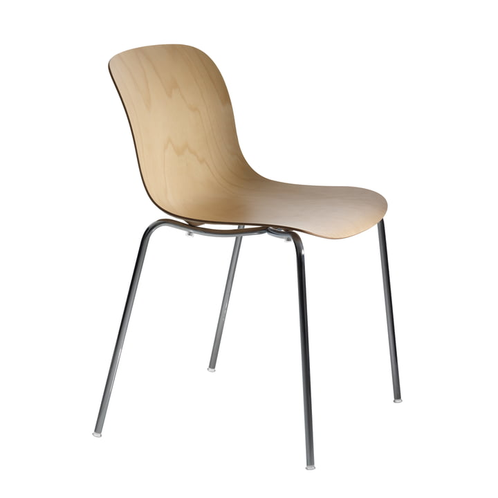 Magis - Troy Chair beech plywood, chrome-plated / natural beech wood