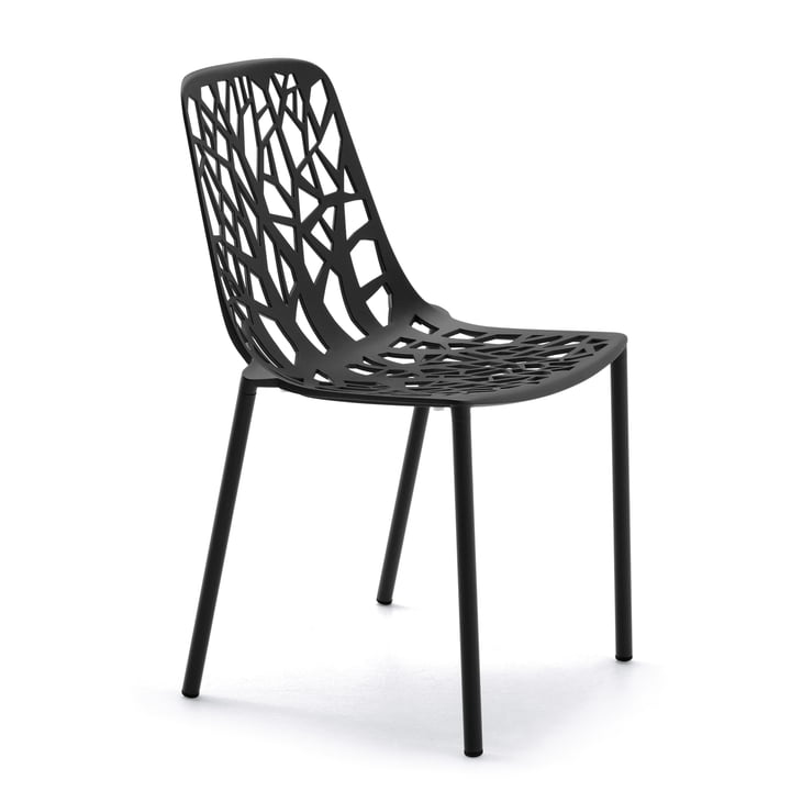 Fast - Forest stackable chair, black