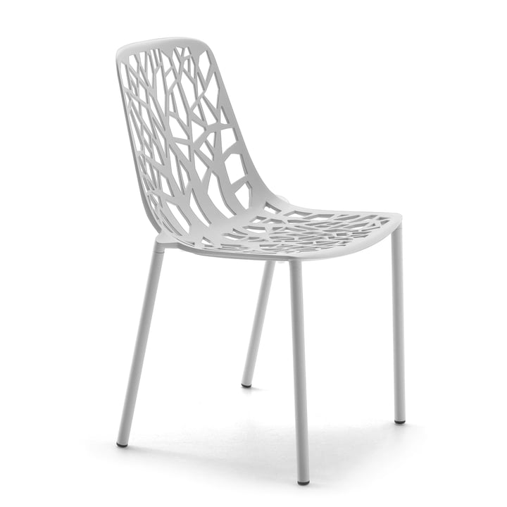 Fast - Forest stackable chair, white