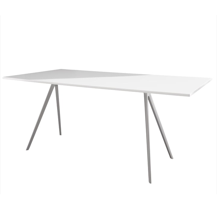 Magis - Baguette Dining table 205 cm, white / white
