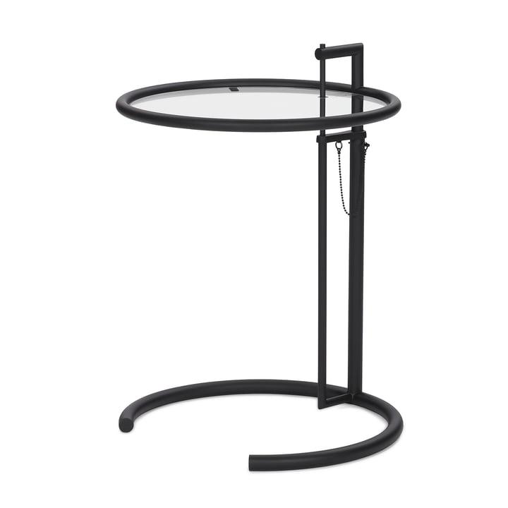 ClassiCon - adjustable table E1027, black / crystal glass