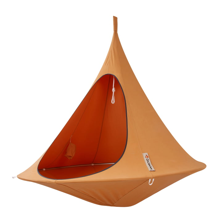 Cacoon - Double Hanging Chair, orange mango
