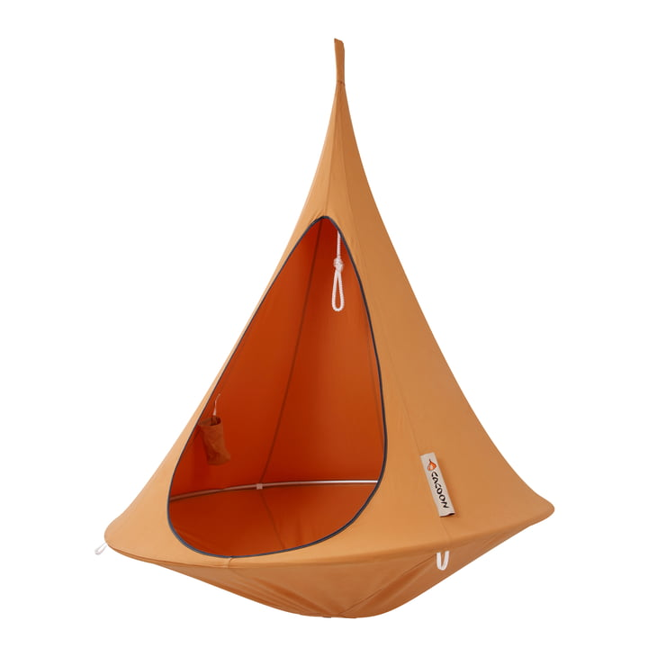 Single Hanging chair, orange mango from Cacoon