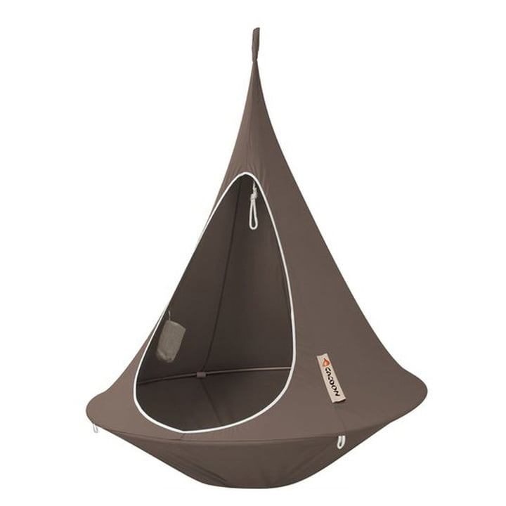 Cacoon - Single Hanging Chair, taupe