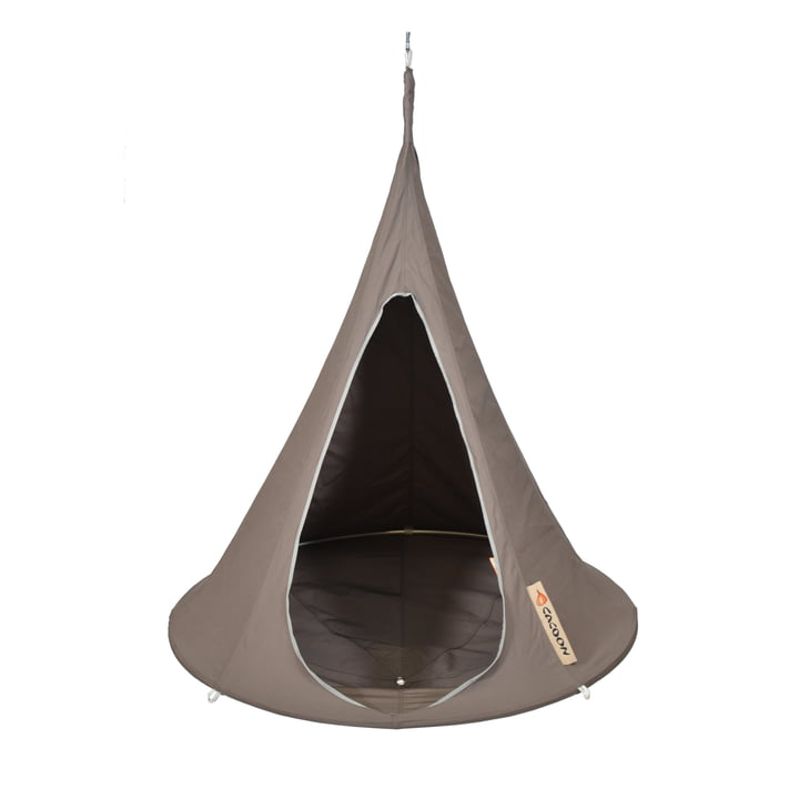 Bebo hanging chair, taupe by Cacoon