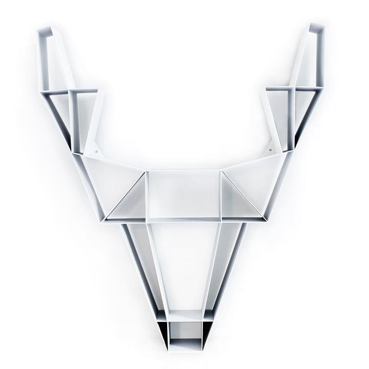 BeDesign - Deer metal large, white