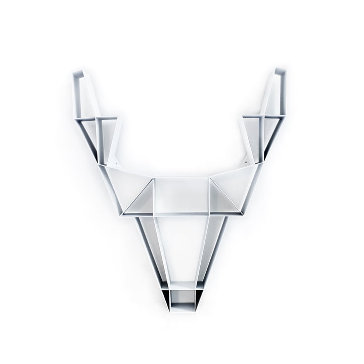 BeDesign - Deer metal small, white