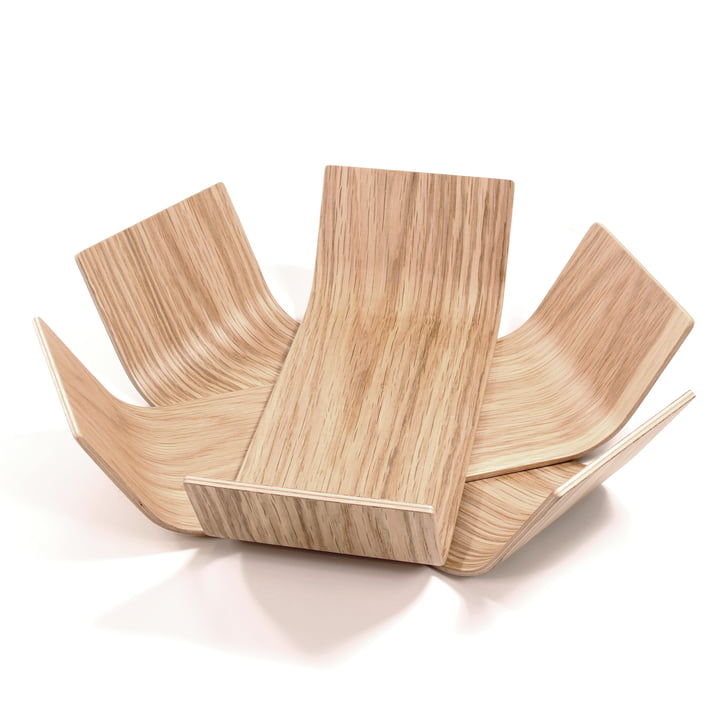 BeDesign - Lily bowl small, walnut lacquered
