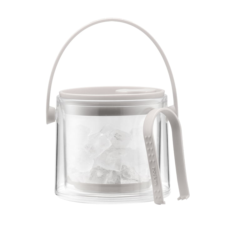 Bodum - Cool Ice Bucket with tongs 1.5 l, cream