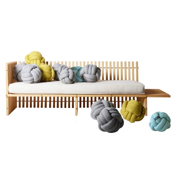 OK Design - Chango Cushion, jade, grey, mustard