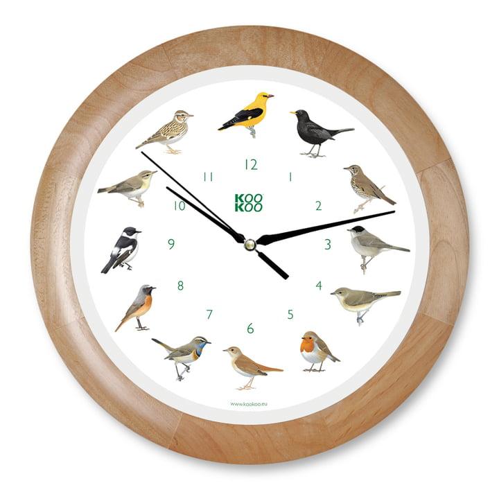 KooKoo - Singvogel Wall Clock, wood