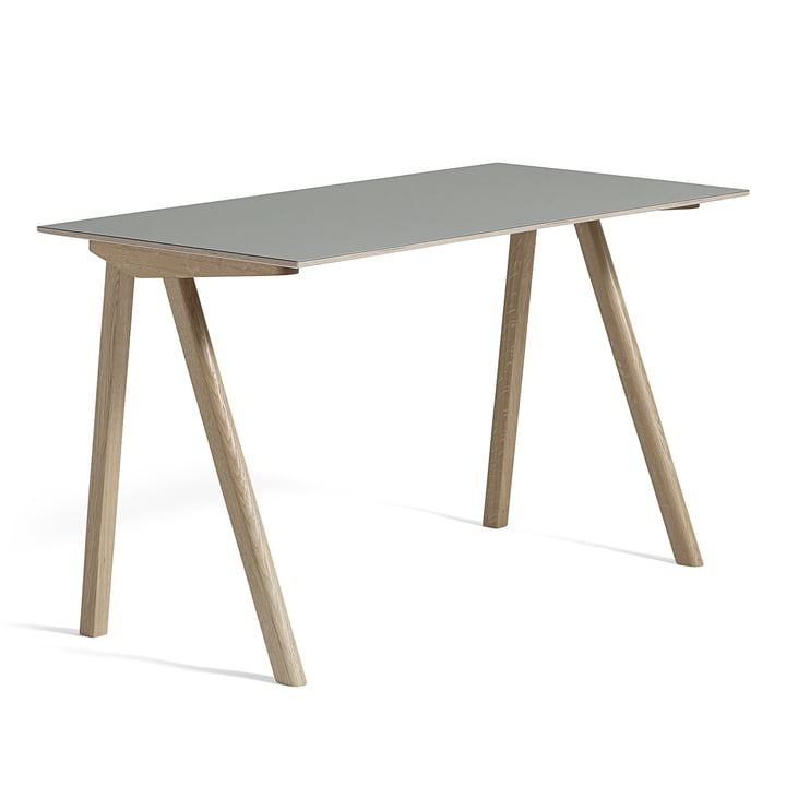 Hay - Copenhague CPH90 Desk 130 x 65 cm, soaped oak with linoleum, grey