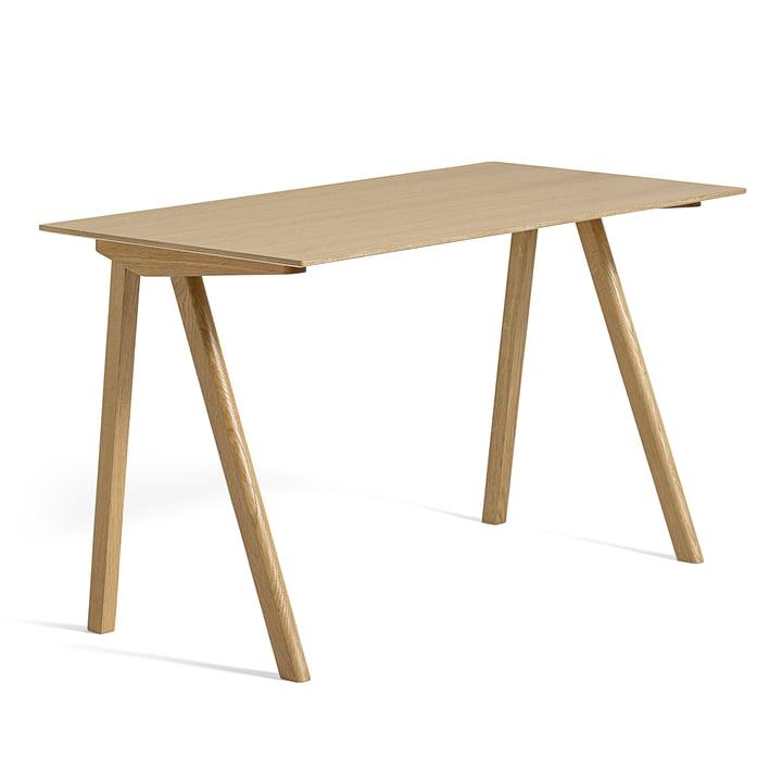 Copenhague CPH90 Desk 130 x 65 cm in lacquered oak with oak veneer from Hay