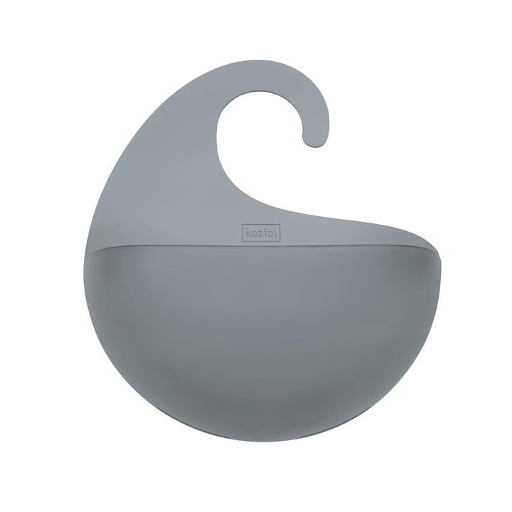 Koziol - Surf bathroom silo with handle, transparent anthracite