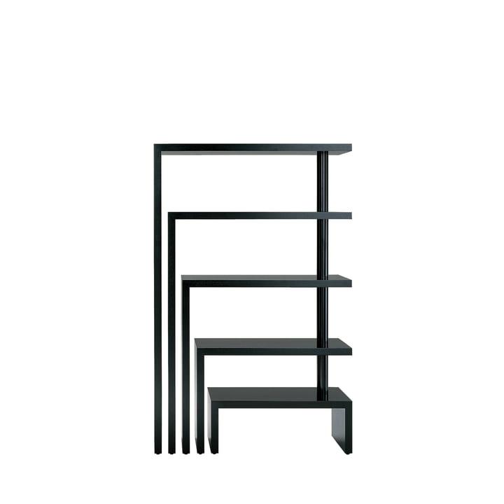 Zanotta - Joy Five Rotating Shelf Unit, black