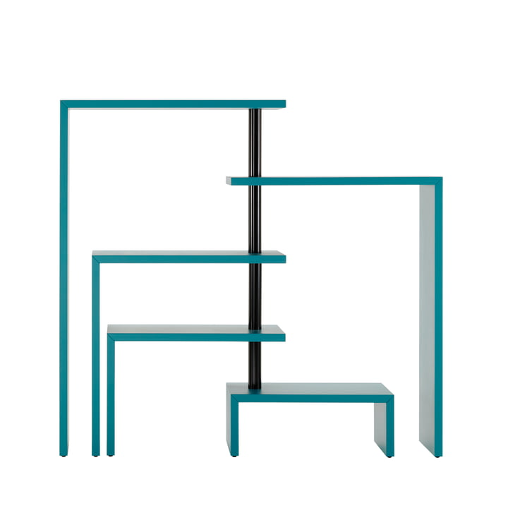 Zanotta - Joy Five Rotating Shelf Unit, turquoise