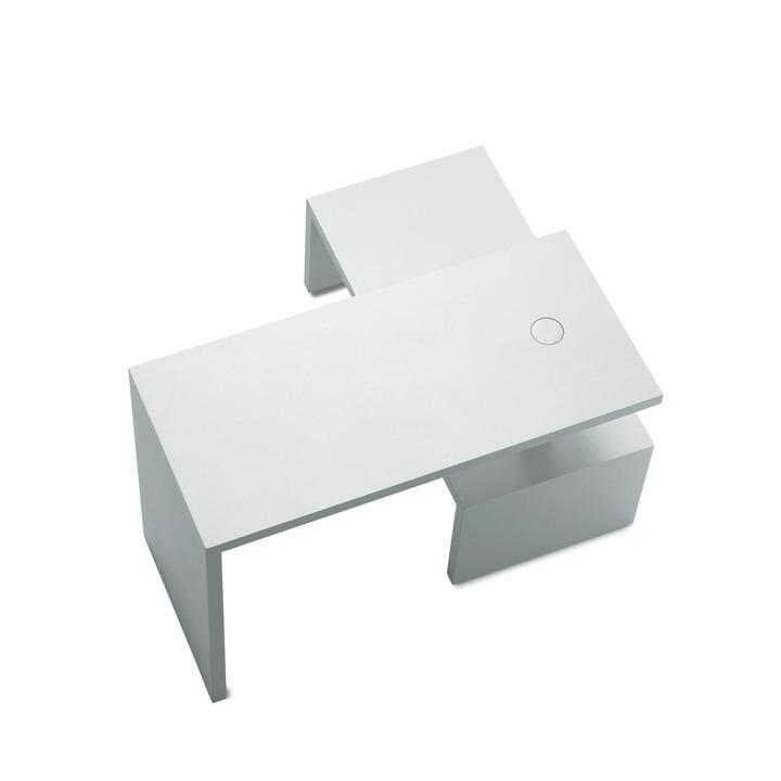 Zanotta - Basello Couchtisch (two-piece), white / white