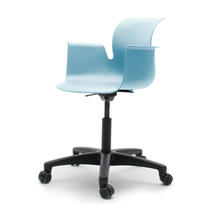 Flötotto - Pro 6 Armchair Swivel Chair, Polyamid / aqua