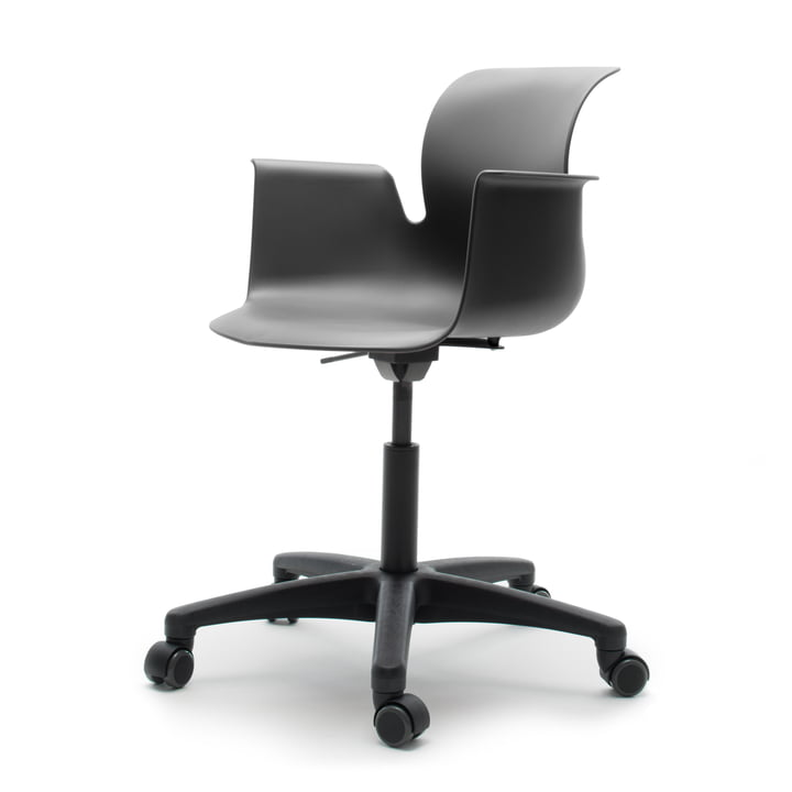 Flötotto - Pro 6 Armchair Swivel Chair, Polyamid / graphite
