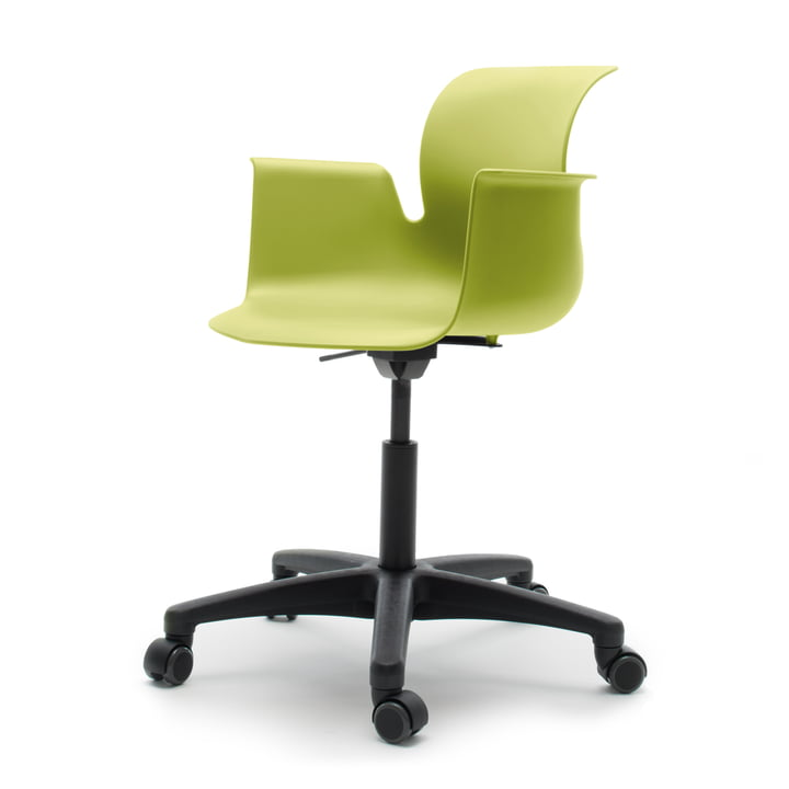 Flötotto - Pro 6 Armchair Swivel Chair, Polyamid / green