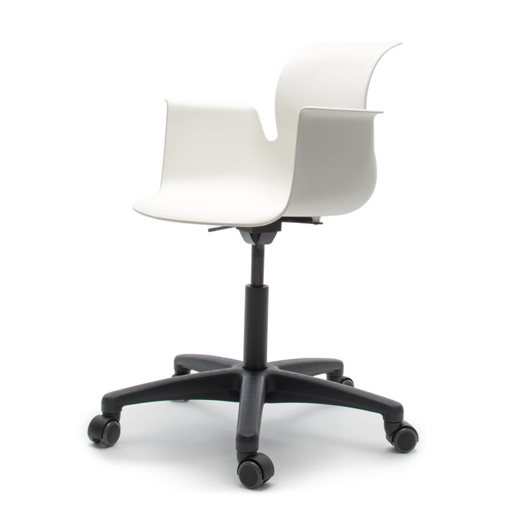 Flötotto - Pro 6 Armchair Swivel Chair, Polyamid / snow-white