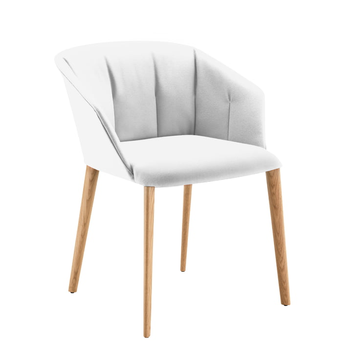 Zanotta - Liza Armchair 2271, oak / light grey, Vale (24803)