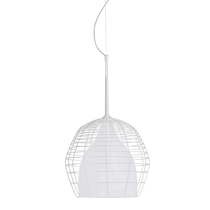 Diesel Living - Cage Pendant Light large, white / white