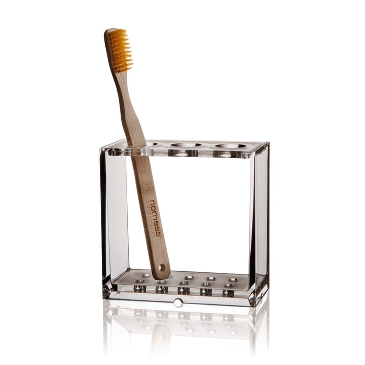 Nomess - Clear Toothbrush Holder, with toothbrush