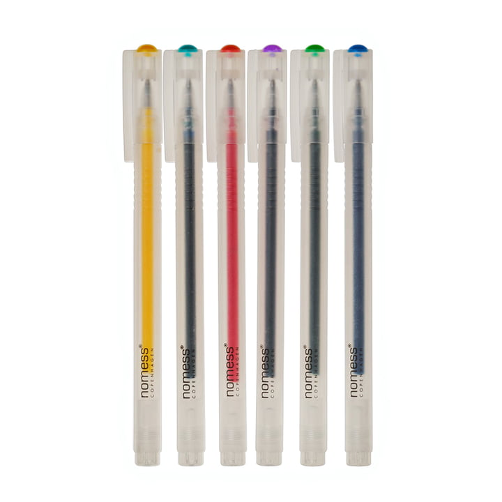 Nomess - Gel Pen (Set of 6), bright