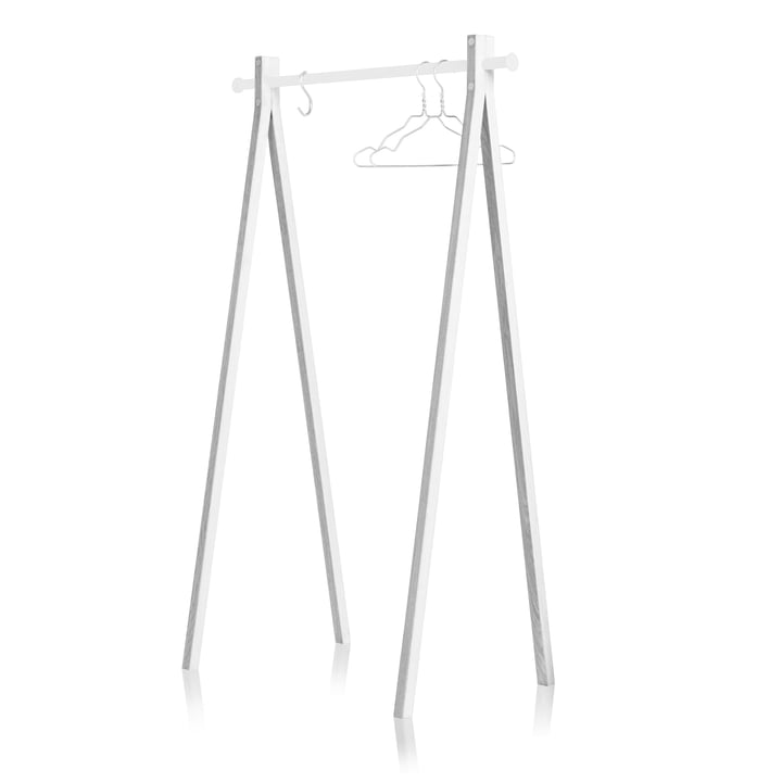 Nomess - Dress-Up Coat Rack, white / white, 90 cm