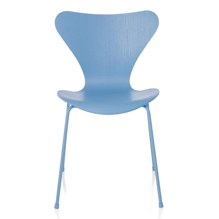 Fritz Hansen - Series 7 Chair, monochromatic Trieste Blue, 46.5 cm